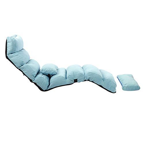 EBTOOLS - Asiento de suelo acolchado con respaldo ajustable, sofá cama, silla de suelo acolchada, cómoda con respaldo y reposacabezas, sofá perezoso