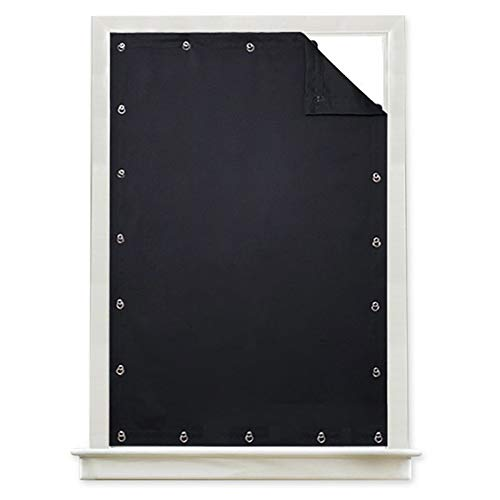 Kwoma Vorhang mit elektrischer Panne für Fenster, verstellbar, reduziert Lärm, thermisch isoliert, mit Saugnapf, für das Badezimmer