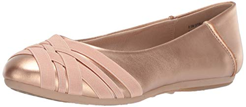 Aerosoles Women's Spin Cycle Ballet Flat, Pink Metal Combo, 6.5 M US