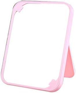 XZGang Meisje makeup spiegel Ultradunne draagbare Beauty Mirror Rectangle Vouw Travel Vanity Mirror Badkamer Desktop passpiegel Ultrahelder ColorPink Size223154CM