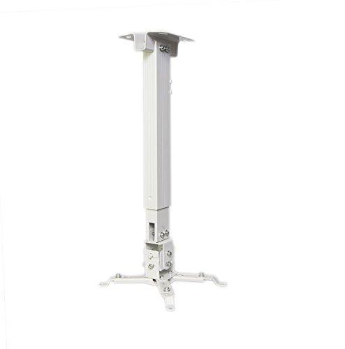 Luxburg, Supporto A Soffitto Universale Per Montaggio Priettore, Bianco, 100-180 Cm, 15 Kg