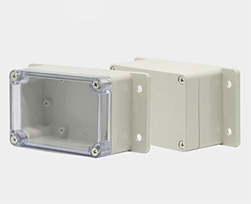 Estuche para proyectos resistente al agua, caja de conexión eléctrica IP65 ABS, 1 caja de herramientas de bricolaje para unidades de fuente de alimentación, proyectos electrónicos, blanco
