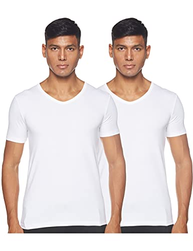 BOSS T-Shirt VN 2P CO/EL Camiseta, Blanco (White 100), XL (Pack de 2) para Hombre