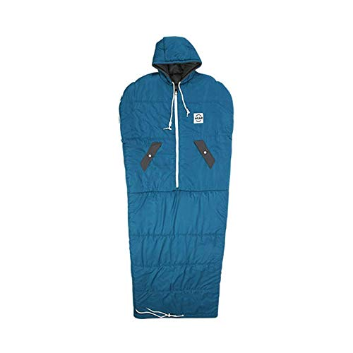 VINSONMASSIF Wearable Sleeping Bag for Camping, Hiking and Outdoors (Turkey blue)