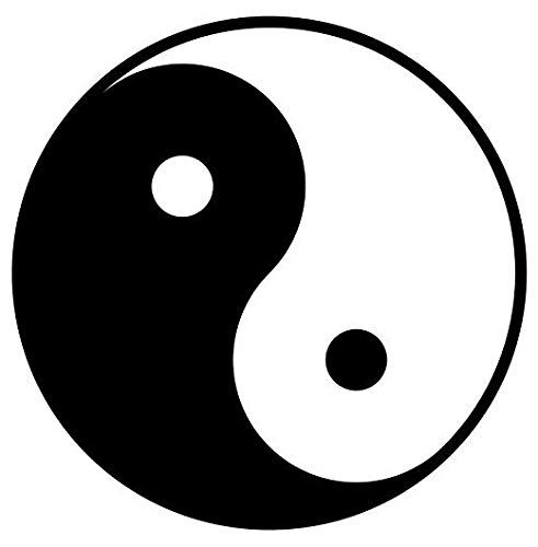 Ying Yang Symbol - Sticker Graphic - Auto, Wall, Laptop, Cell, Truck Sticker for Windows, Cars, Trucks