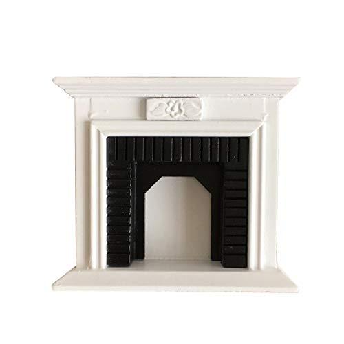 Searchyou - 1/12 Muebles de casa de muñecas en Miniatura para Casa de Muñecas, Muebles de Chimenea
