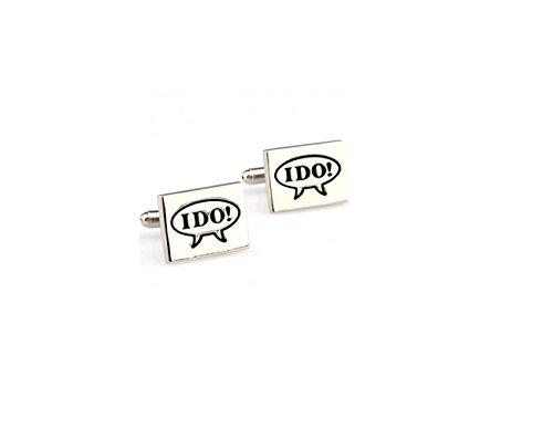 Global Accessorie Mariage spécial Souvenirs JE FAIS Boutons de manchette Cuff Link En Presentable Gift Box