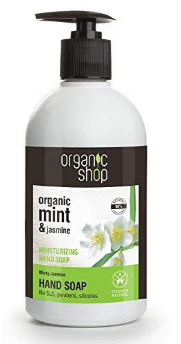 Organic Shop Mint and Jasmine Moisturising Hand Soap, 500 ml