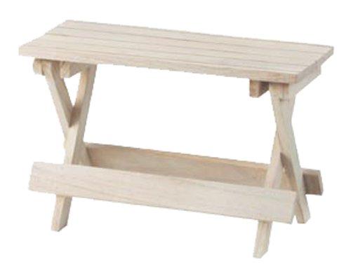 ウッドスタンド チェリーウッド 木製 作業台 ガーデニング 花台 アイボリー 約36×16×23cm 16-72IV