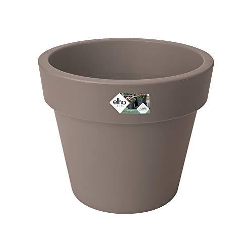 Elho Green Basics Top Planter 47 - Vaso da fiori per esterni, Ø 47,1 x 39,5 cm, colore: Grigio talpa