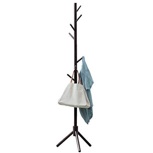 Perchero Escudo Hat Rack, Equipamiento del hogar Escudo Rack, 69' H, independiente con 8 ganchos, de madera de árbol Enterway perchero Percha Soporte for ropa, sombreros, monederos Estante de almacena