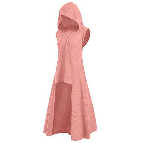 Supertong Mantel Damen Hoodie Mittelalter Gothic Kleidung Mode Cosplay Halloween Kostüme Kapuzenpullover Einfarbig Vintage Punk Pullover Sweatshirt...