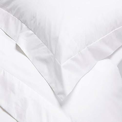 Linens Limited 2 Kissenbezüge mit Saum - Ägypt. Baumwolle, Fadenzahl 400 - Weiß - 50 x 75cm