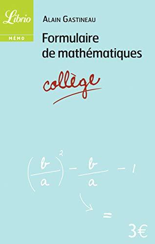 Formulaire de mathématiques Collège