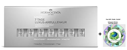 HORMOCENTA Supreme Ampullenkur - Intensive Pflege mit Extrakt aus schwarzen Perlen und luxuriösen Seidenschimmerpartikeln, 7 x 1 mL (+ Gratis Hologram Sticker)