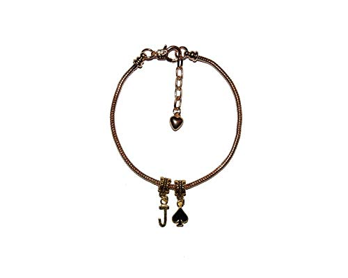 SexyJewels-Co-Uk Slave 'Jack Of Spades' Gold Euro Anklet Chain Jewellery Slut Sub Submissive Gay