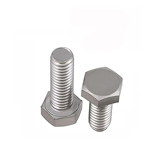 Tornillos de cabeza hexagonal externos BSW Estándar británico 304 A2 Pernos hexagonales de rosca completa de acero inoxidable 5/8'1/2' 3/8'5/16' 1/4'3/16' -2-1/4', 1 pieza