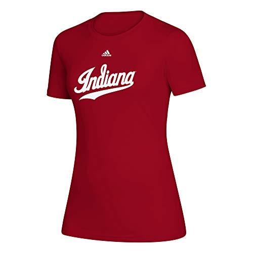 adidas - Creador de Mujer con Cerradura Oficial WMS WO VRED SS/Indiana U, Rojo, XXL, Color Rojo