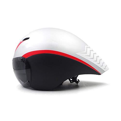 Helm HAOAYOU Race tt Fahrradhelm Linsenbrille Triathlon Tri Aero Helm Rennrad Zeitfahrrad Fahrradhelm Farbe2-2
