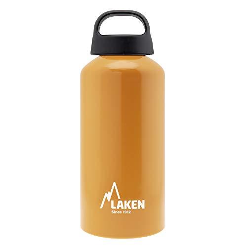 Laken Classic Borraccia di Alluminio Bottiglia d'acqua con Apertura Ampia e Tappo a Vite con Impugnatura, 0,6L, Arancia