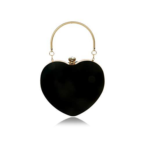 NICOLE & DORIS Abendtasche Damen Abend Clutch Umhängetasche für Hochzeit sketten Tasche Handtasche für Party Schwarz