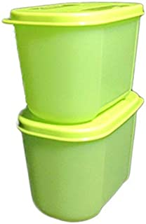 Tupperware Set 2 Green Freeze Smart Containers Freezer Mates 1 1/2 Cup