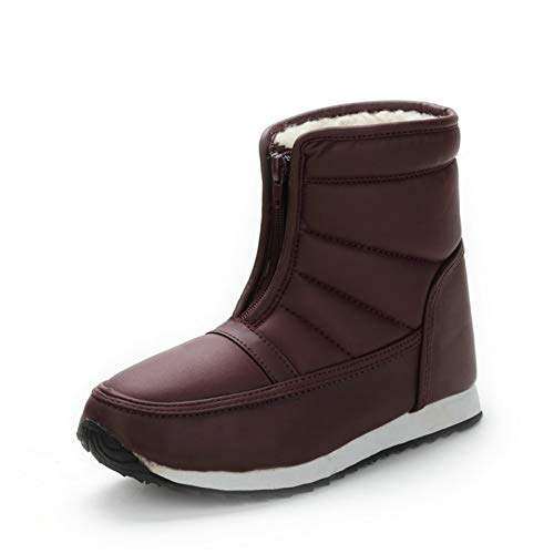 Q-YR Kurzrohr PU Schneeschuhe Gummisohle Stoßdämpfung rutschfeste Baumwollstiefel Dicke Warme Schuhe Für Männer Und Frauen,A,42