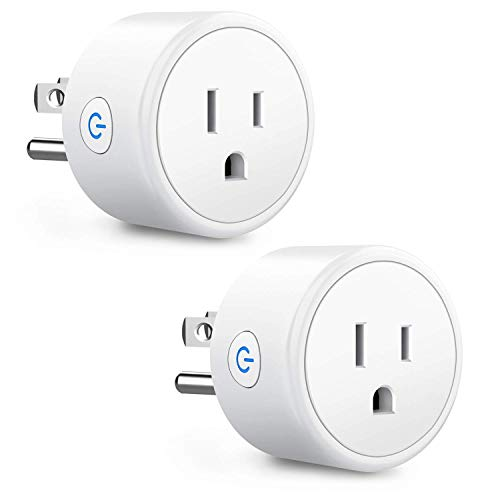 Smart Plug Work with Alexa Google Home, Aoycocr WiFi Remote Control Smart Outlet Support Timer Setting,Voice Control, No Hub Required, ETL/FCC Listed 2 Pack Only 2.4GHz Network