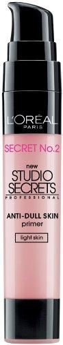 L'Oreal Paris Studio Secrets Professional Color Correcting Anti-Dull Skin Primer, Light Skin, 0.68-Fluid Ounce