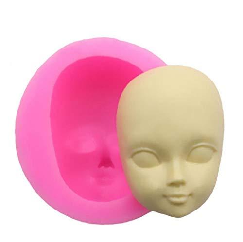 Oulensy DIY Fille Visage Moule en Silicone Moule Fondant Moules De Décoration De Gâteau Outils Femme Masque Moule Polymère Argile Résine Moules