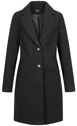 ONLY Damen ONLVERONICA Coat OTW Mantel, Schwarz (Black Black), 42 (Herstellergröße: XL)