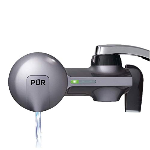 PUR PFM350V Faucet Water Filtration System, Horizontal, Metallic Grey