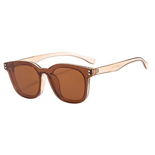 WDTYYJ Klassische Herren TR90 Sonnenbrille Flachspiegel mit Magnetclip Cover Spiegel Sonnenbrille 1