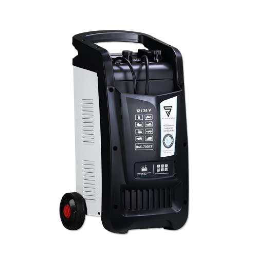 STAHLWERK Cargador de batería de Coche BAC-700 ST, Modo 12/24 V, Rendimiento hasta 700 Ah, Corriente de Carga hasta 60 A, Ayuda de Arranque, Booster, Temporizador
