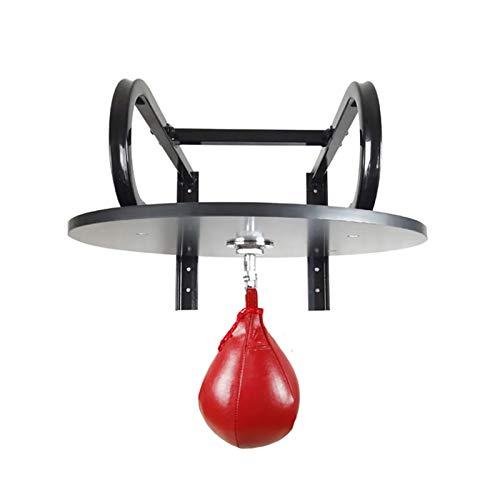 JTRHD Einstellbarer Boxsackrahmen Wandmontierte Speed Bag Platform Home und Fitnessstudio Sprint Speed Ball Boxing Training Für Fitnessbegeisterte (Farbe : Black, Size : 60x60x1.8cm)