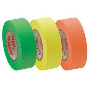 ヤマト メモック ロールテープ つめかえ用 15mm幅 オレンジ&レモン&ライム RK-15H-A 1パック(3巻) ×15セット