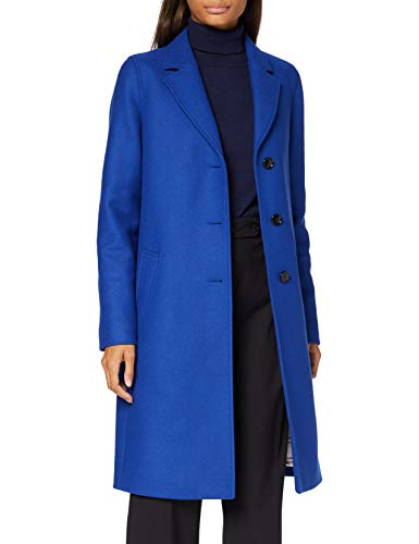 BOSS Damen C_coluise Wollmischungs Mantel, Light/Pastel Blue451, 32 EU