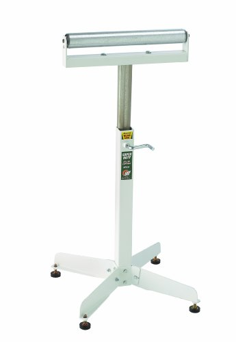 HTC HSS-18 Super Duty Adjustable 28-Inch to 45 1/2-Inch Tall Pedestal Roller Stand with 16-Inch Ball Bearing Roller, 500 Lbs. Material support