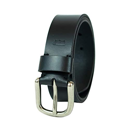 Levi's Men's 100% Leather Belt  with Prong Buckle, Black, 34, Bridle Black