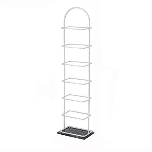 BIAOYU Estante de Zapatos 7-Niveles Metal Shoe Rack Multi-Use Shoe Shelf El Organizador de Almacenamiento para el Vestuario de la Entrada Closet Living Room Organizador de Zapatos