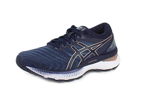 ASICS Women's Gel-Nimbus 22 Running Shoes, 8.5M, Grey Floss/Peacoat