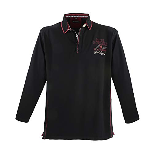 Lavecchia Men's Polo Shirt Black Big Sizes, Dimensione:7XL