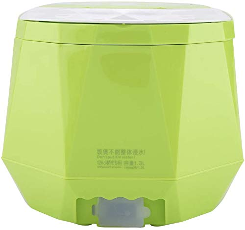 YFAZTS Reiskocher, 12V 100W Mini-Dampfgarer doppelte Sicherheit Schnalle Heizradiator Dampfer Essen Brei Kochen für Zuhause Auto LKW Außeneinsatz 1,3 Liter