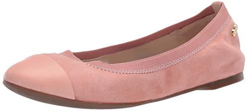 Cole Haan womens Elbridge Ii Ballet Flat, Coral Almond Suede, 7 US