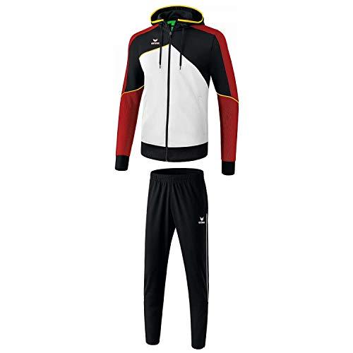 Erima Herren Trainingsanzug Premium One 2.0 weiß/schwarz/rot/gelb XXL