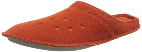 Crocs Classic Slipper, Unisex-Erwachsene Niedrig, Classic Slipper Hausschuh, Spicy Orange/Spicy Orange, 39/40 EU