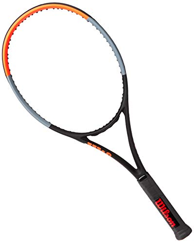 Wilson Raqueta de tenis, Clash 26, Para niños de más de 11 años, Grafito, Negro/gris/rojo, WR009010U