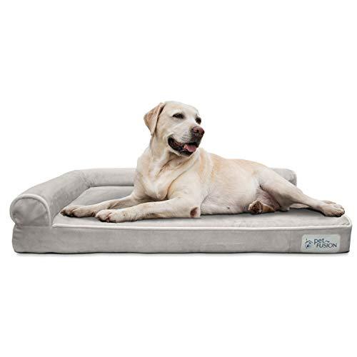 PetFusion BetterLounge Hundebett, Memory-Schaum, mit wasserdichter Auskleidung und abnehmbarem Bezug, Größe L 91 x 71 x 15 cm Ersatzbezüge und Decken sind ebenfalls erhältlich
