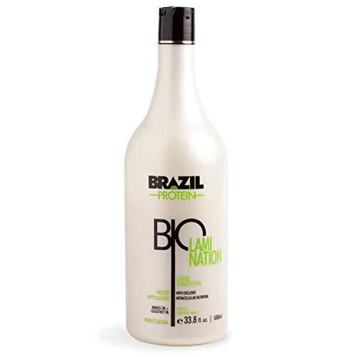 Brazil Protein Biolamination - Shine Condition- Alisador, Alisado Brasileño de Cabello- 1000ml -Sin Sulfato - Sin Formol - Con extractos de coco y babaçu - Hidratación y brillo natural