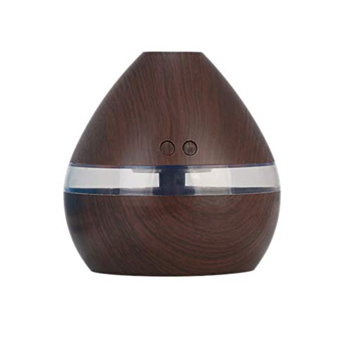 wivarra Aromatherapy Essential Oil Diffuser 300Ml Wood Grain Aroma Diffuser With Timer Cool Mist Humidifier For Large Room,Home,Baby Bedroom,Waterless Auto Shut-Off Dark Wood